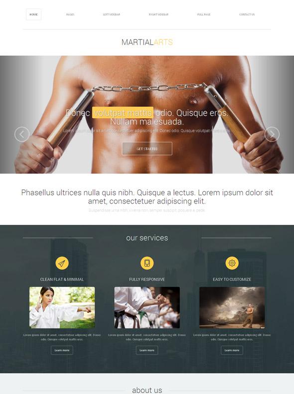 Judo Karate Website Template
