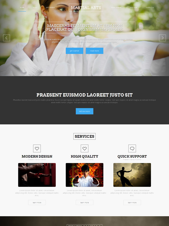 Judo Karate Site Template