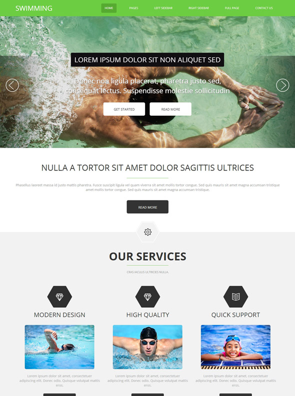 Swimming Pools Website Template