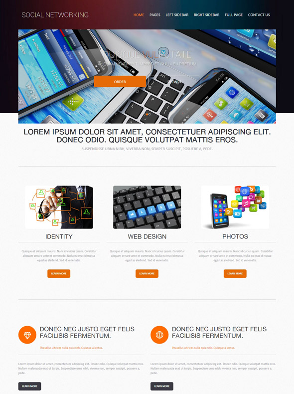 social networking web template social networking website