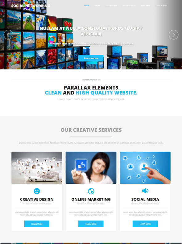 social media website template - Acur.lunamedia.co