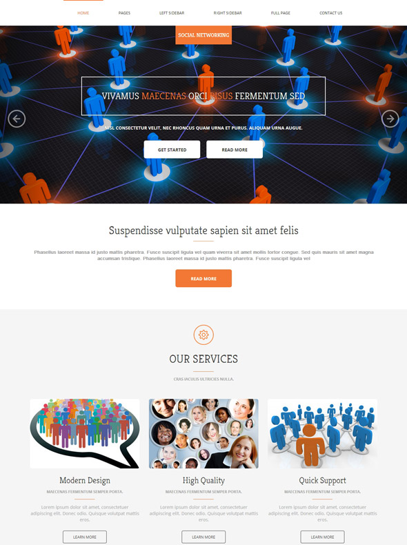 social networking html template