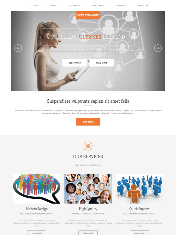 social networking html template social networking website