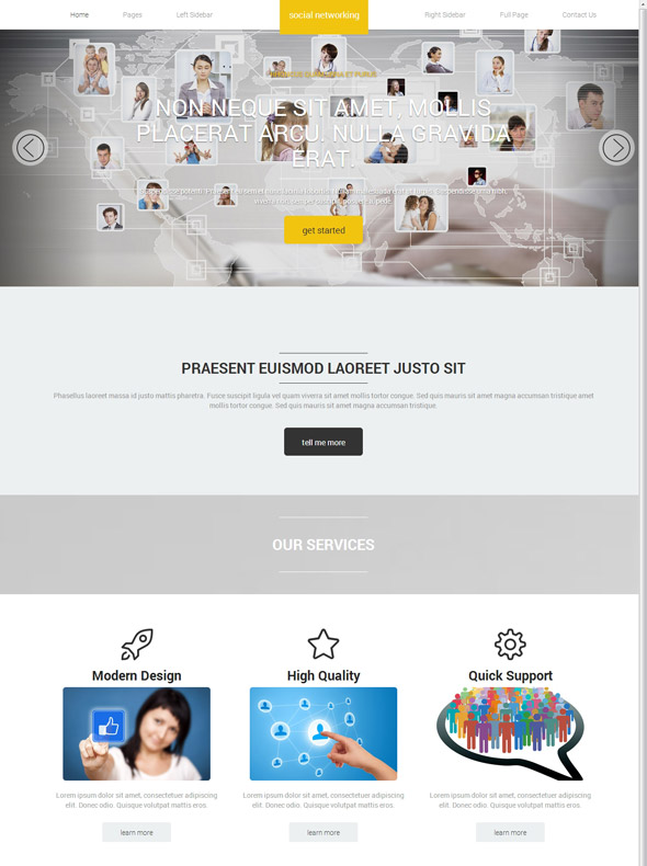 Social Networking Website Template - Social Networking - Website ...