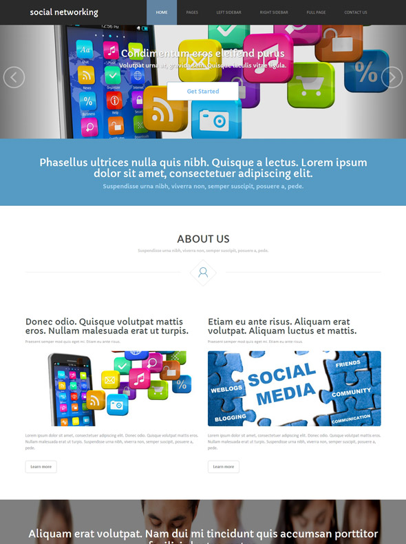 social networking site template