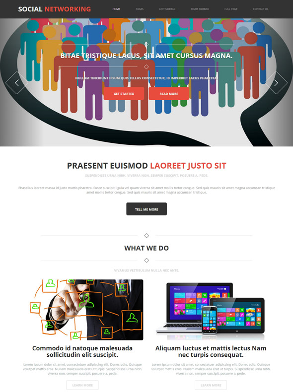 social networking website template