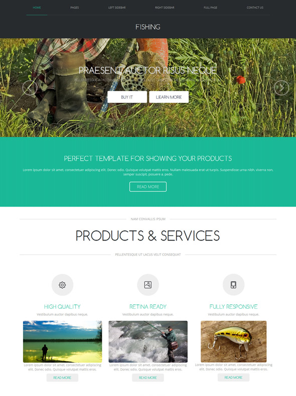 Industrial Fishing Web Template - Fishing - Website Templates ...