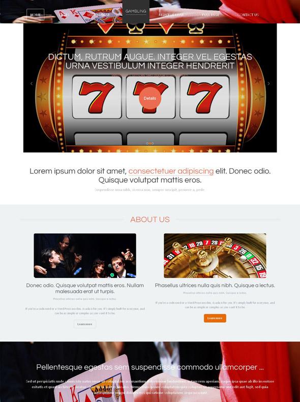 casino template html