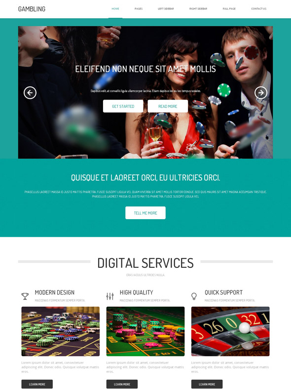 Gambling web templates to tropicana casino in