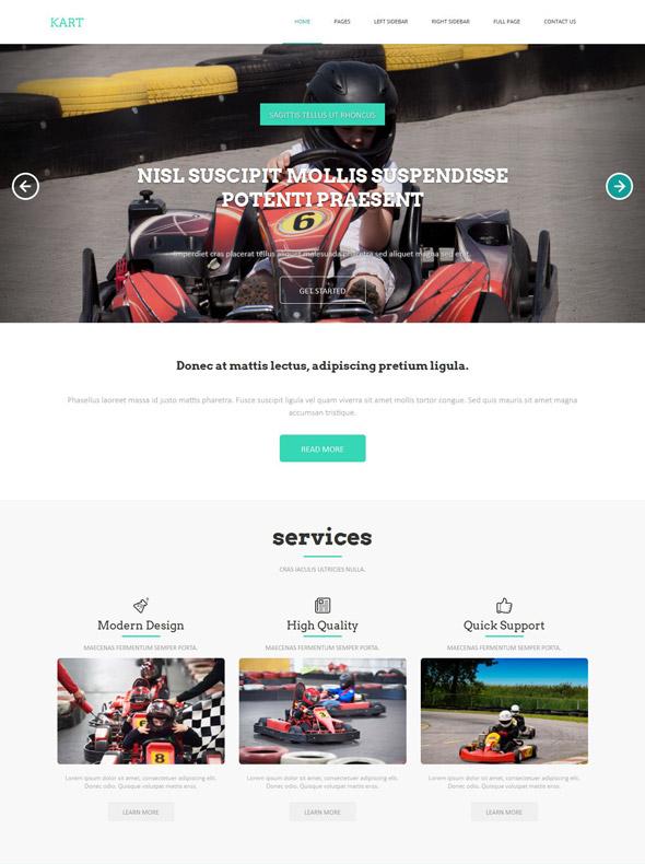 Kart Classes HTML Template - Go Kart Racing - Website