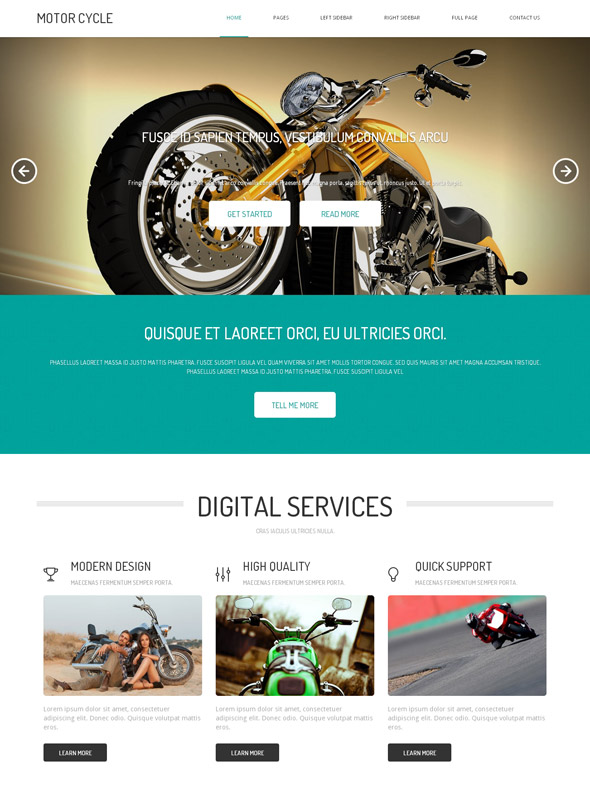 Motorcycle Html Template Motorcycle Website Templates
