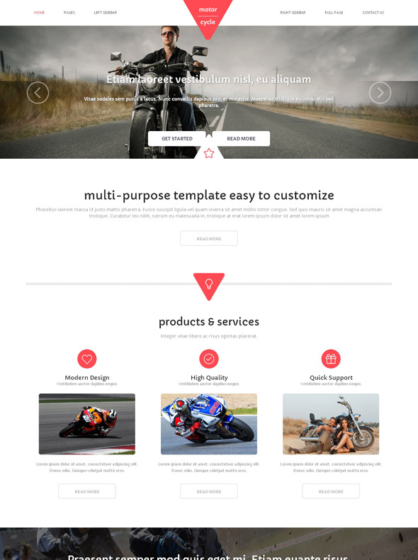 motorsport html template motorcycle website templates