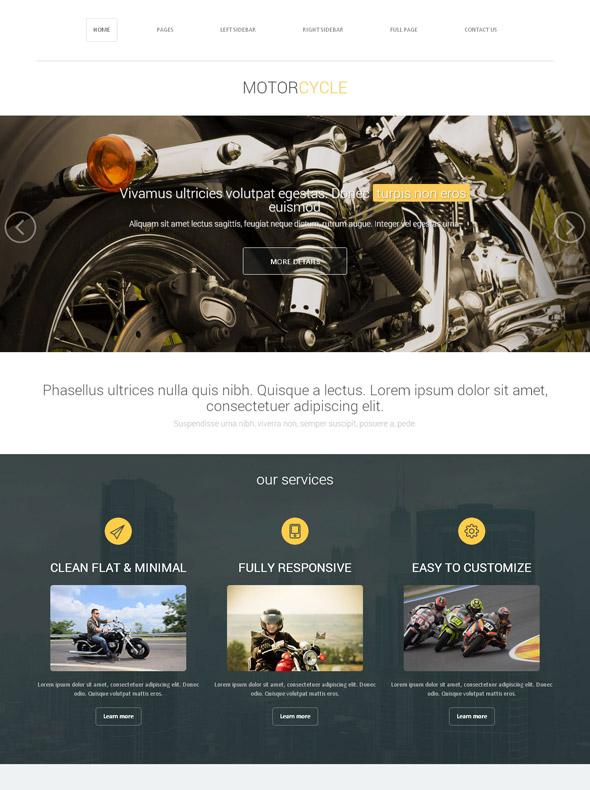 Super Bike Racing Web Template