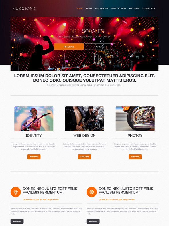 rock music band web template music band website templates dreamtemplate. Black Bedroom Furniture Sets. Home Design Ideas