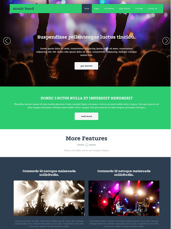 musical ensemble website template music band website templates dreamtemplate. Black Bedroom Furniture Sets. Home Design Ideas