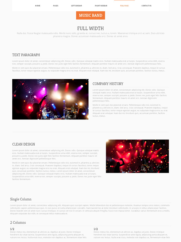 instrumental music band website template music band website templates dreamtemplate. Black Bedroom Furniture Sets. Home Design Ideas