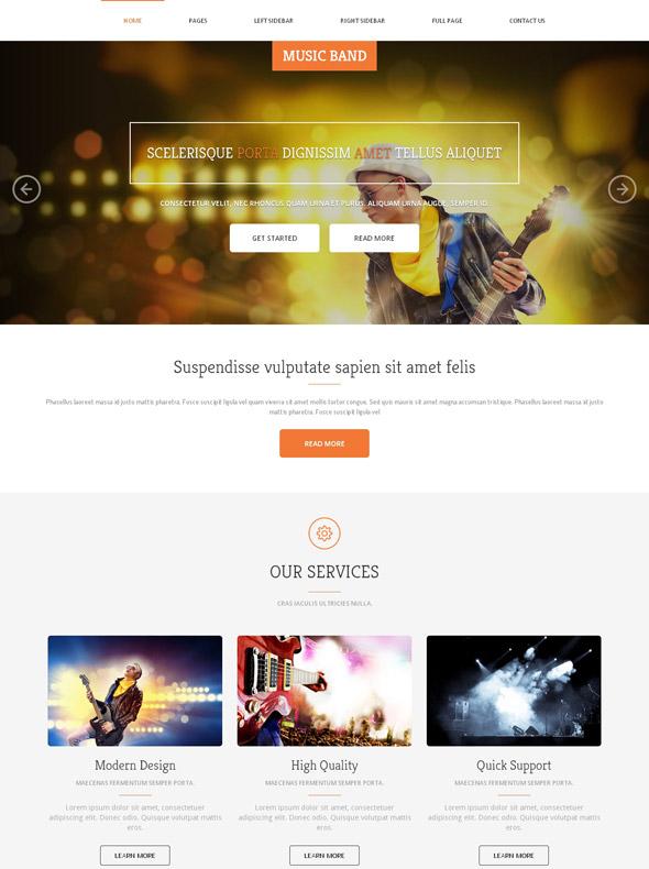 Instrumental Music Band Website Template - Music Band - Website ...