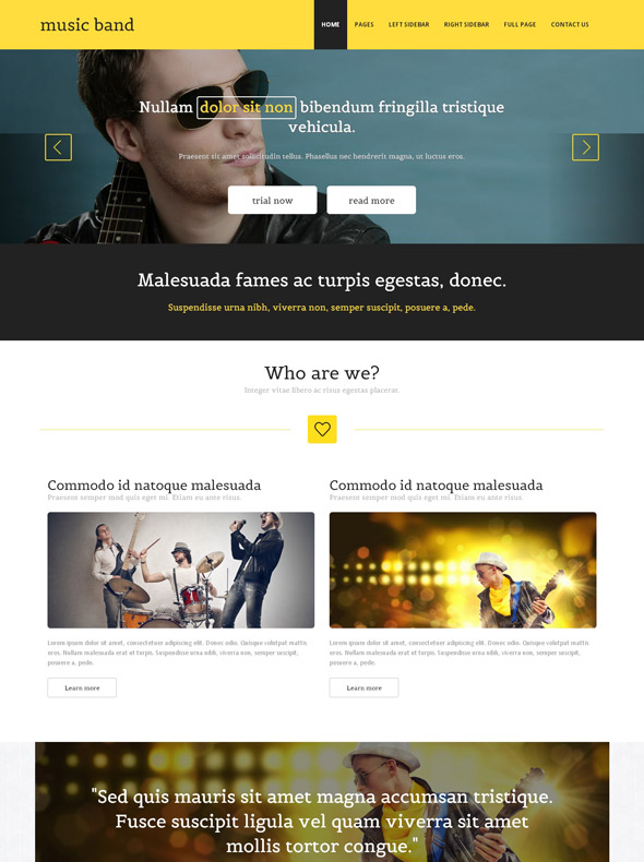 Classic Bands Website Template - Music Band - Website Templates ...