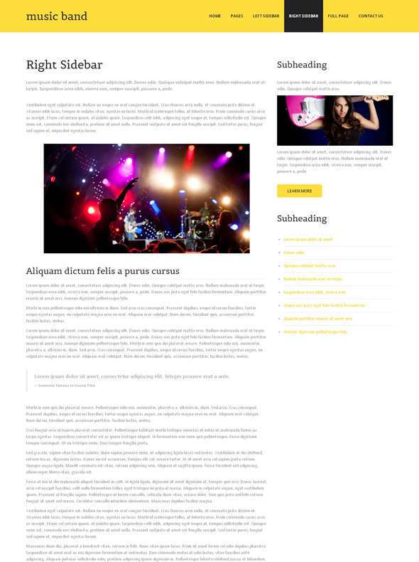 classic bands website template music band website templates dreamtemplate. Black Bedroom Furniture Sets. Home Design Ideas