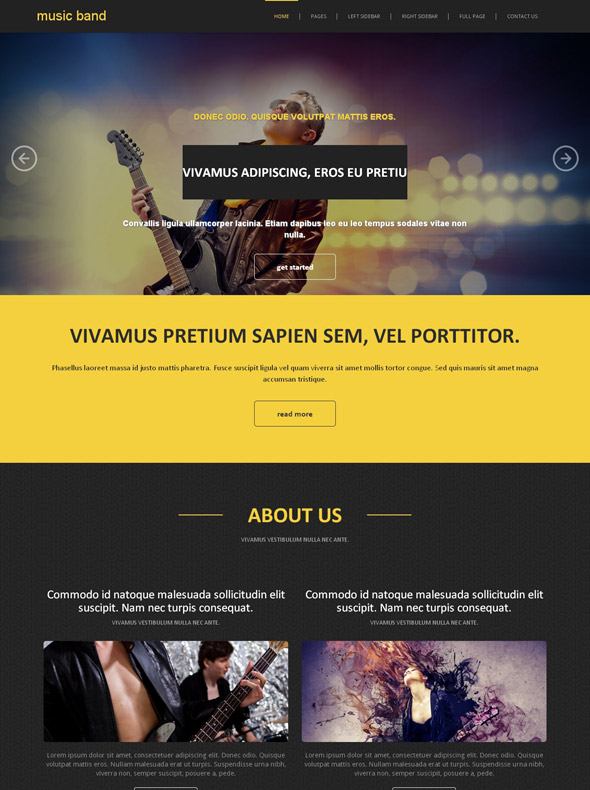 classic bands site template music band website templates dreamtemplate. Black Bedroom Furniture Sets. Home Design Ideas