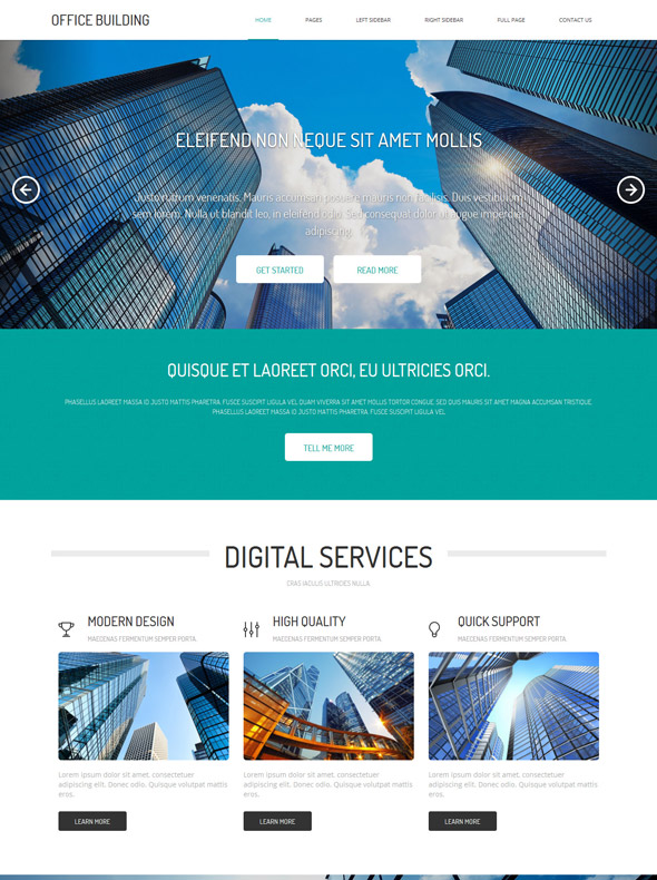 Building towers web template office building website templates.