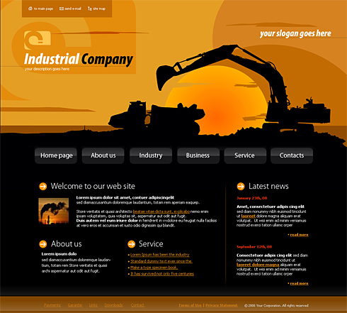 4144 - Industrial & History - Website Templates - DreamTemplate