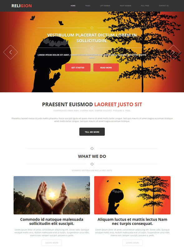 Hindu Religion Web Template - Religion - Website Templates ...
