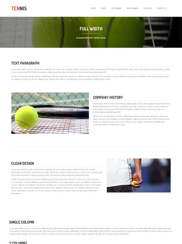 tennis academy website template tennis website. Black Bedroom Furniture Sets. Home Design Ideas