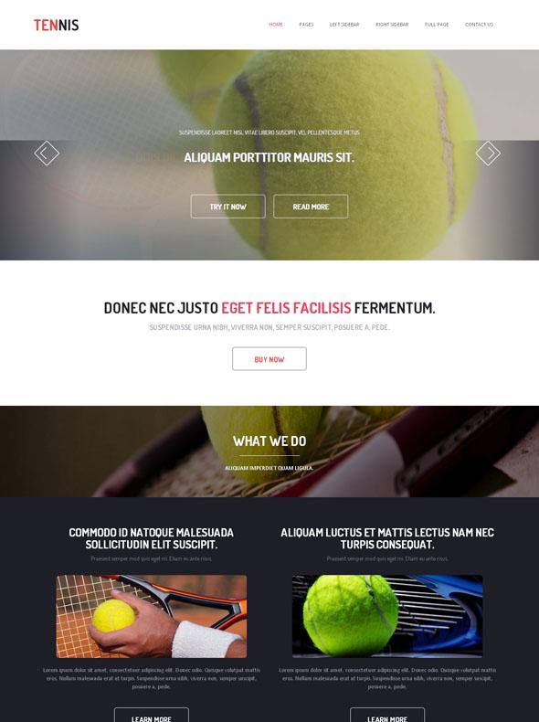 Tennis Academy Website Template - Tennis - Website Templates ...