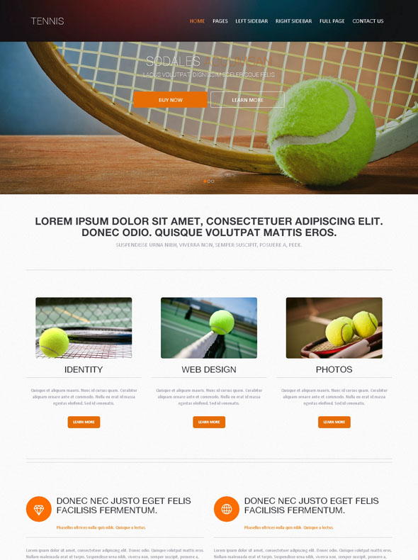 Tennis Academy Web Template - Tennis - Website Templates - DreamTemplate