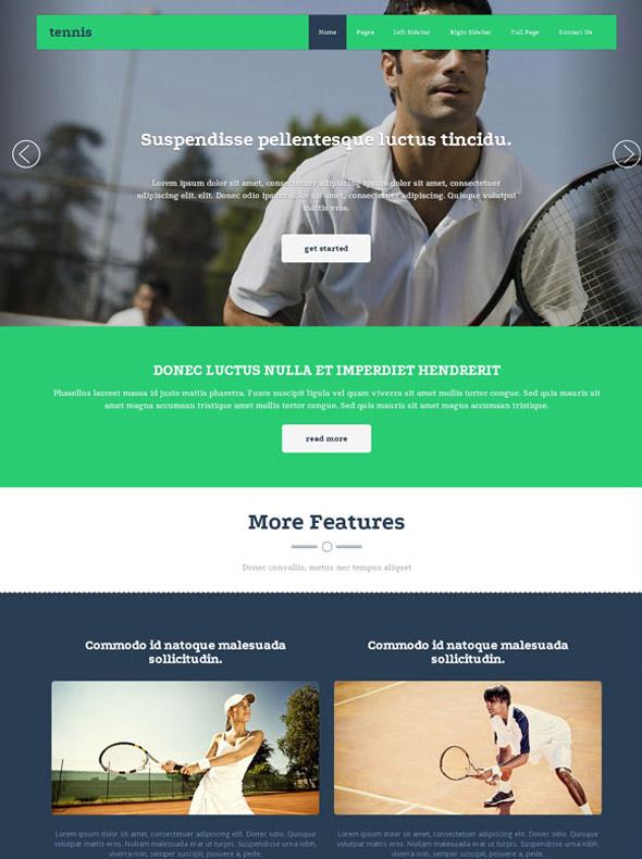 tennis association website template tennis website. Black Bedroom Furniture Sets. Home Design Ideas