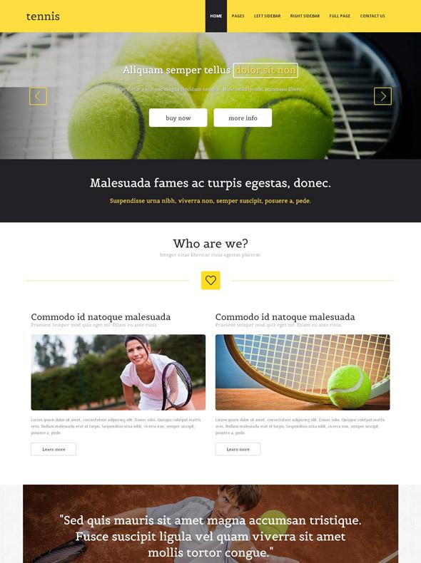 tennis accessories website template tennis website. Black Bedroom Furniture Sets. Home Design Ideas