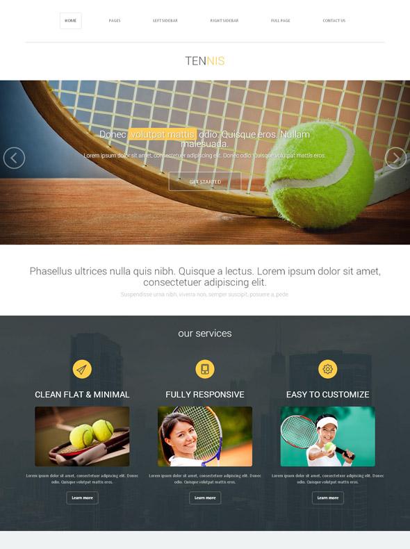 tennis drills web template tennis website templates. Black Bedroom Furniture Sets. Home Design Ideas