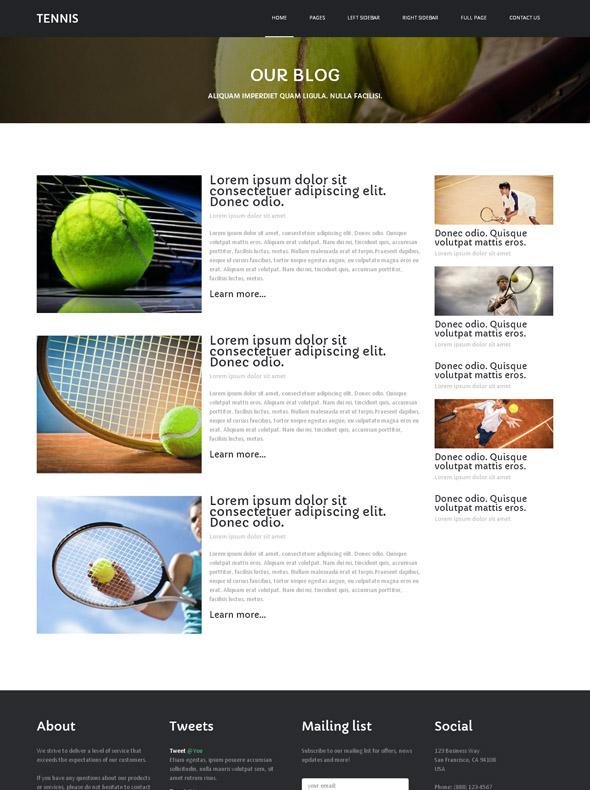 tennis coaching website template tennis website. Black Bedroom Furniture Sets. Home Design Ideas