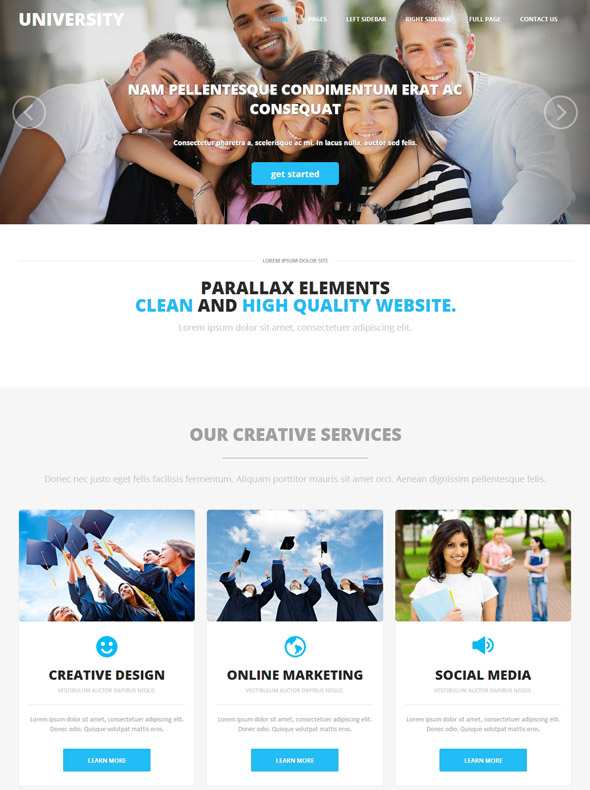 Modern Universities Web Template - University & College - Website ...