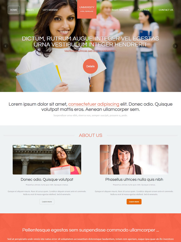 College Studies HTML Template - University & College - Website ...