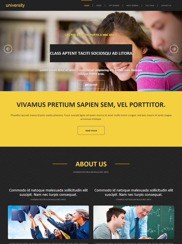 University Degree Site Template - University & College - Website ...