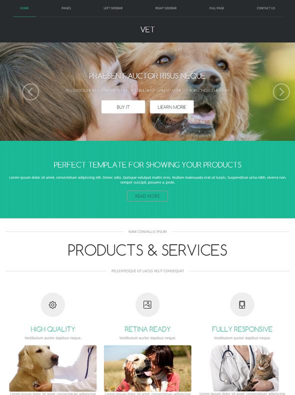 Animal Doctor Web Template - Veterinary - Website Templates ...