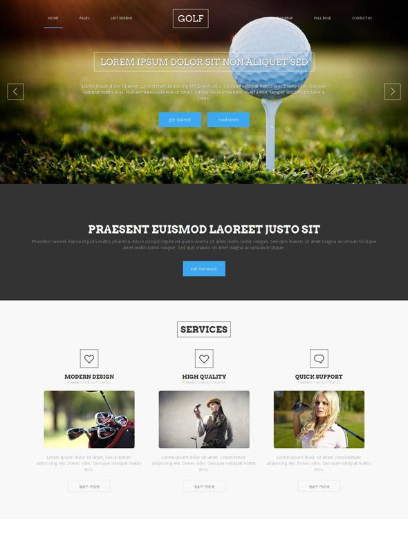 golf website template golf sports dreamtemplate. Black Bedroom Furniture Sets. Home Design Ideas
