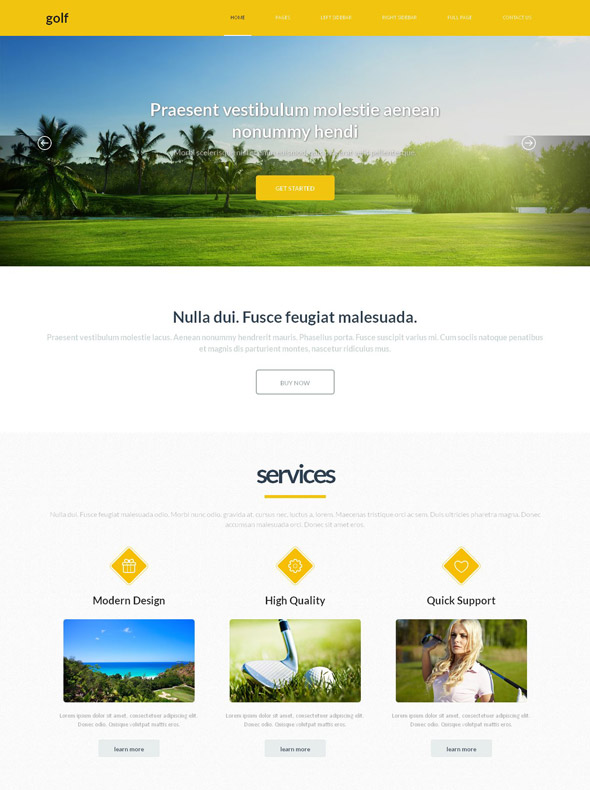 golfing web template golf sports dreamtemplate. Black Bedroom Furniture Sets. Home Design Ideas