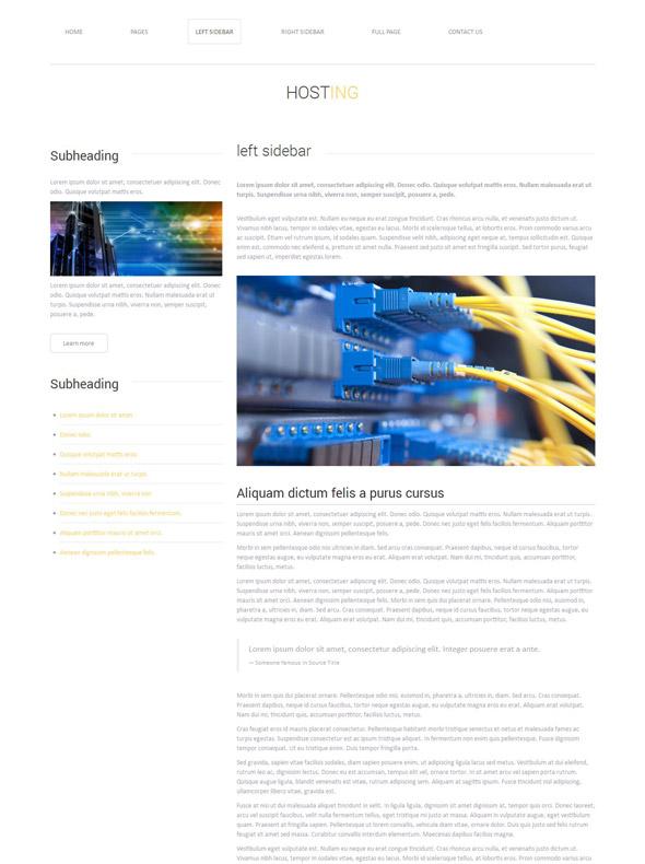hosting website template web hosting website templates