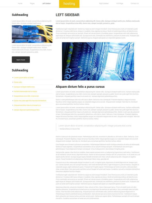 hosting web template web hosting website templates dreamtemplate