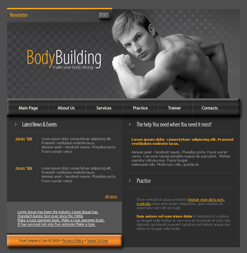 3632 - Sports & Fitness - Website Templates - DreamTemplate