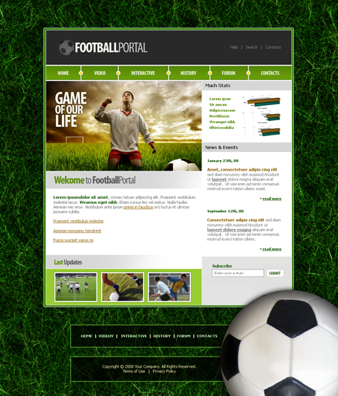 Sports Website Template. american football easy flash theme price ...