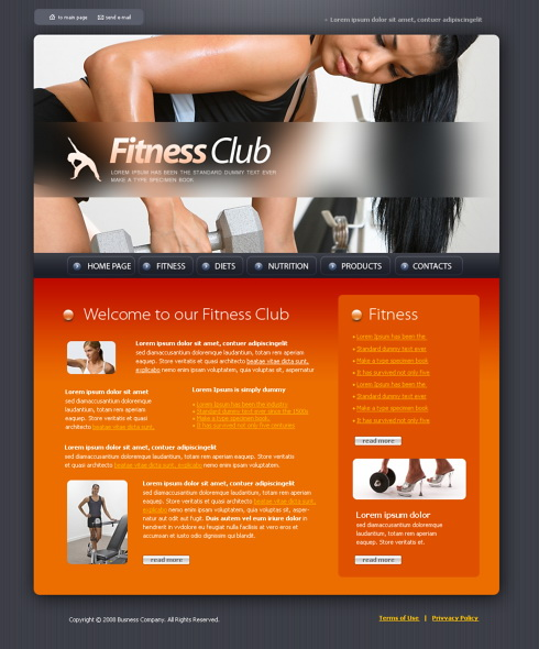 4386 - Sports & Fitness - Website Templates - DreamTemplate