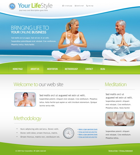 Yoga Website Template. 5962 sports fitness website templates ...