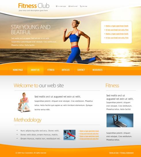 6032 - Sports & Fitness - Website Templates - DreamTemplate