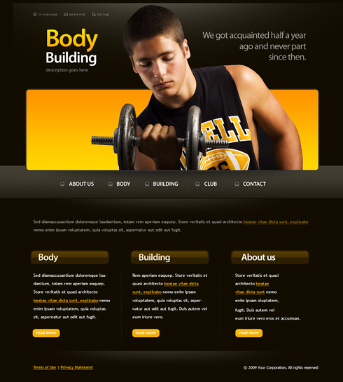 6164 - Sports & Fitness - Website Templates - DreamTemplate