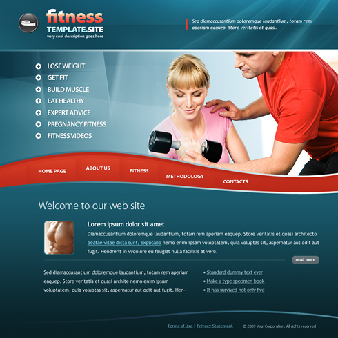 6168 - Sports & Fitness - Website Templates - DreamTemplate