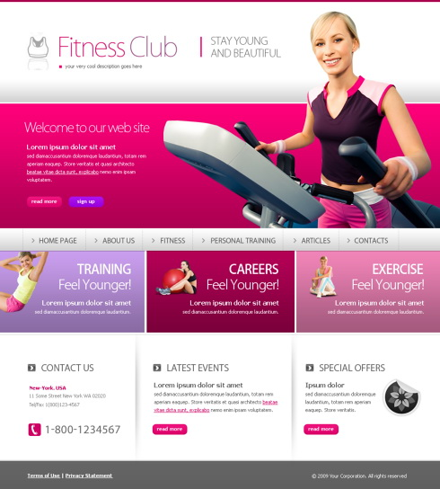 6188 - Sports & Fitness - Website Templates - DreamTemplate